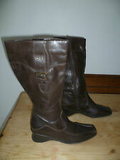 NEXT SIZE 41 UK7 LADIES BROWN LEATHER KNNE HIGH BOOTS GOOD CONDITION