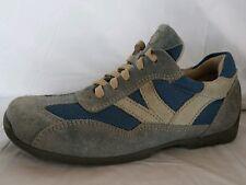 Footprints Birkenstock Womens 5 - 5.5 Narrow EU 36 Shoe Blue Beige Sneaker Suede