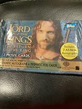 New Lotr Return Of The King Hobby Sealed Pack Look For Autographs