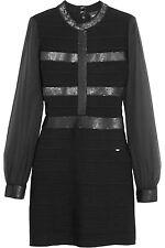 Just Cavalli Black Sequin Embellished Bandage mini Dress sz M