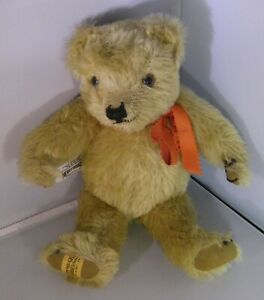 """Merrythought Growler 11"""" Fully Jointed Mohair England Rare Vintage"""