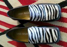 Enzo Angiolini zebra print loafers sz 5 m