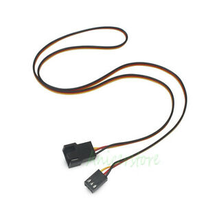 10pcs PC Cooling Fan 3 Pin to 3pin/4pin Connector Power Extension Cable 600mm