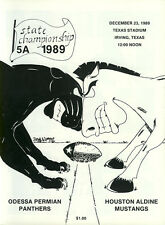 1989 Texas State Football Championship Program 5A Permian v Aldine