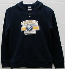 Buffalo Sabres NHL Youth Hoodie Sweatshirt Patch Logo Navy Boy's Large 10/12 New