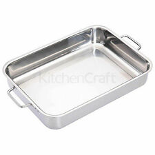 Kitchen Craft Stainless Steel Home Baking & Roasting Dishes