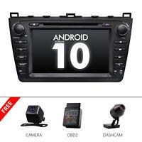 """CAM+OBD+DVR+For Mazda 6 Mazda6 Android 10 2 DIN 8"""" Car Stereo DVD GPS Radio WiFi"""