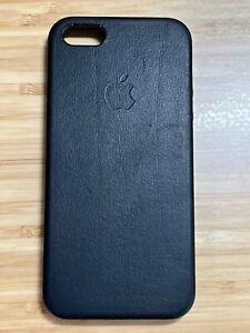 Apple Leather Case for iPhone SE 1st Gen. / 2016 - Black
