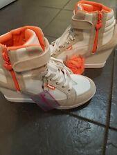Ladies Playboy Wedges Trainers Shoes Size 8 Hi Fashion Designer NEW UK 8