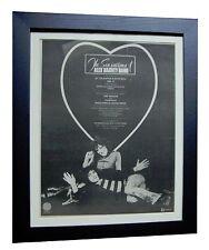 ALEX HARVEY BAND+Next+TOUR+RARE ORIGINAL 1974 POSTER AD+FRAMED+FAST+GLOBAL SHIP