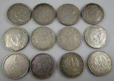 German Third Reich Silver Coins 5 Mark Lot of 12