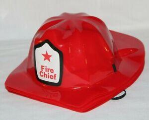 Set of 12 Childs Plastic Fireman Costume Fire Chief Helmets Birthday Party-SU