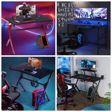 Ergonomic Gaming Desk Computer Table E Sport Gamer Home Workstation Carbon Fiber