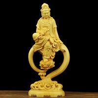 Boxwood Wood Carved Buddhist Buddha Statue Buddhism kwanyin Sculpture Collection