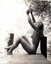 NAKED SUMMER Blonde Nude SEPIA HENDRICKSON PHOTO Original Artist Studio D362