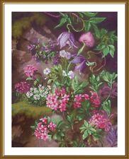 Counted Cross Stitch Kit Nova Sloboda CP2266 - Forest Purple