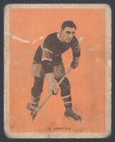 1933 1933-34 V288 HAMILTON GUM ~ #18 ~ SYLVIO MANTHA ~ MONTREAL CANADIENS