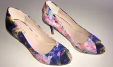 High (3 in. to 4.5 in.) Open Toe Stiletto Floral Heels for Women