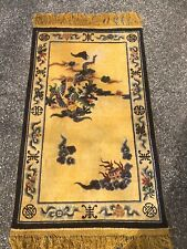 ANTIQUE SILK CHINESE IMPERIAL NING-XIA RUG 3' x 5' GOLD FIELD_MUST SEE