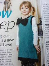 Knitting Pattern Girl's Simple Dress With Bow In Aran Wool -To fit 4-5 Years Old