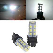 2x White 3157 5050 3156 18SMD Tail Brake Parking Turn Signal LED Lamp Light Bulb