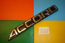GENUINE HONDA ACCORD BLACK & CHROME PLASTIC REAR BADGE EMBLEM. 75722-SE0-A00
