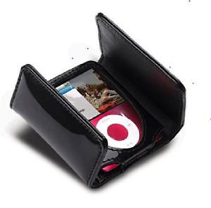 gear4 Black Patent Leather Quartz cases ipod nano 3rd gen 4-8 GB