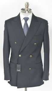 NWT GINO SARTORE Navy Super 100's Wool Double Breasted Sport Coat 36 R (EU 46)