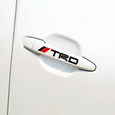 Etiqueta engomada de la manija de la puerta de x4 Negro TRD insignia de carreras para Toyota MR2 AURIS PRIUS YARIS