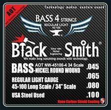 BlackSmith ANW45100434 Coated Nickel Round Wound Electric Bass Strings, Light