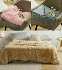 Lush Blanket Soft Cosy Warm Cuddly Sofa Bed Throws Doube King Size Hug and Snug