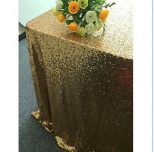 Rectangular Sequin Tablecloth Table Cloth Wedding Party Banquet Decoration
