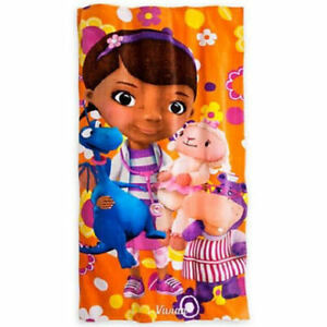 """Disney Store Doc McStuffins Floral Beach Towel 60"""" x 30"""" NEW with Tags"""