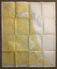 1973 Vintage Newburyport MA Harbor Nautical Chart Map NOAA Ocean Survey 33X39