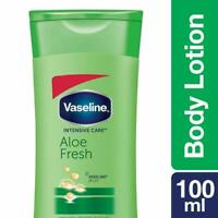 Vaseline Intensive Care Aloe Fresh Body Lotion (100ml) Free Shipping Worldwide
