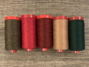 5x Aurifil Lana Wool Thread 12wt 383 yds | 50% Acrylic / 50% Wool A2
