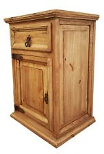 Traditional Rustic Nightstand with 1 Door and 1 Drawer Left Side