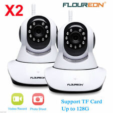 2X WIFI IP Kamera CCTV 720P HD Wireless WLAN ONVIF Webcam IR Nachtsicht Camera