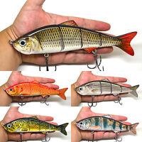 "8"" Multi Jointed Fishing Bait Lure Swimbait Bass Pike Life Like Minnow Musky NEW"