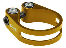 XRD CNC seatpost clamp Ti bolt - 34.9mm - Gold / Yellow