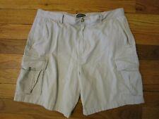 Covington Mens SZ 38 Shorts Cargo Khaki 6 Pockets Beige Baggy Stone 15099 Cotton