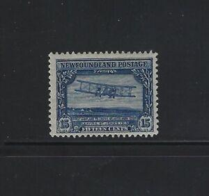 NEWFOUNDLAND - #156 - 15c FIRST NONSTOP TRANSATLANTIC FLIGHT MINT STAMP MLH