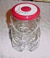 "Kraft Grape Jelly Teddy Bear Jar 1988 6"" Tall"