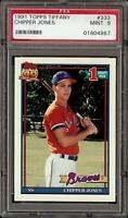 Very Rare 1991 Topps Tiffany #333 Chipper Jones Rookie RC PSA 9 Mint Low Pop!