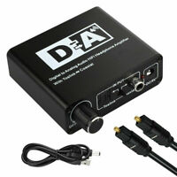 192KHz Digitaler Optischer Koaxial Toslink zu Analogem Cinch 3,5mm Audio RF