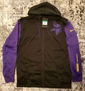 Nike NFL Minnesota Vikings Therma Dri-Fit Warm Full Zip Hoodie Jacket Mens XL