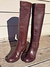 FRYE Rory Scrunch Boots 77425 - Size 7 -  $327 Retail - Brown Leather