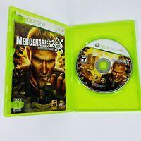 Mercenaries 2: World in Flames Microsoft Xbox 360 08 COMPLETE w/ Manual TESTED
