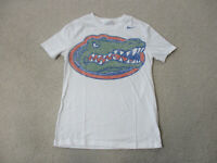 Nike Florida Gators Shirt Adult Extra Small White Green UF Football Cotton Mens