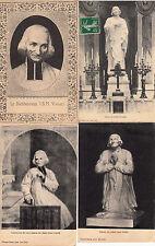 Lot 4 cartes postales anciennes ARS statue portrait du curé 2